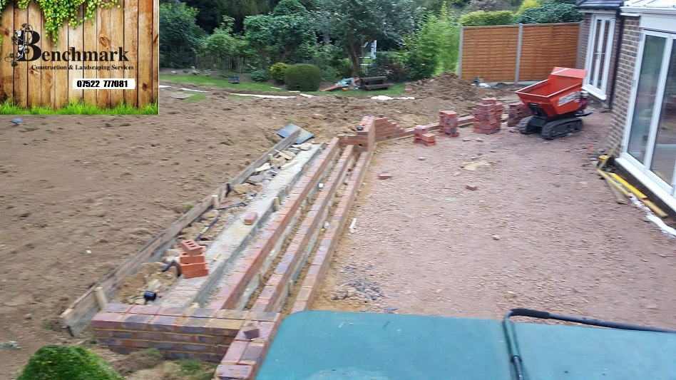 Garden under construction benchmark construction for Garden decking maidstone